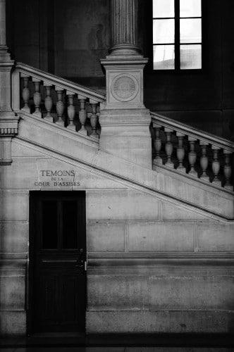 Entrée des témoins à la Cour d'assises - Palais de Justice de PARIS © Cabinet MCE - Marie Camille ECK, Avocat au Barreau de PARIS