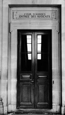 Palais de Justice de Paris Cour d'assises entrée des Avocats
