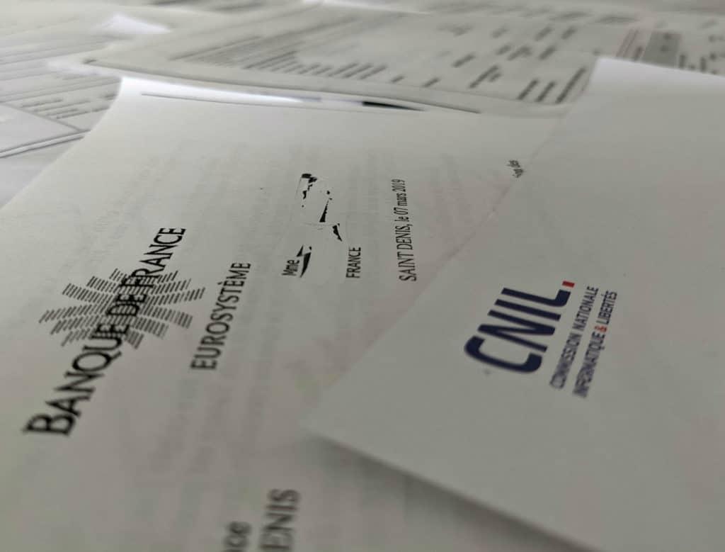Courrier Banque de France et CNIL © Cabinet MCE - Marie Camille ECK, Avocat usurpation d'identité