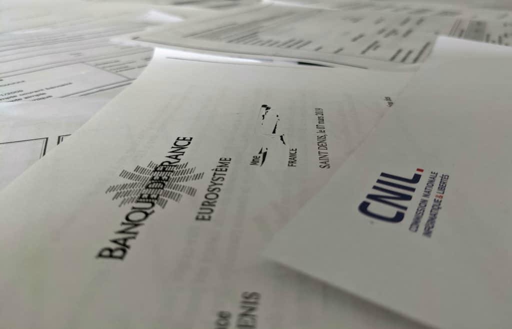 Courrier de la Banque de France et de la CNIL © Cabinet MCE - Marie Camille ECK, Avocat usurpation d'identité